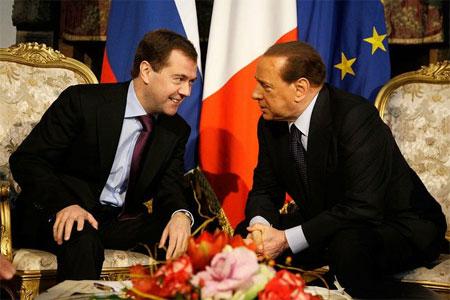 Перед началом консультаций Президент России и Председатель Совета министров Италии провели двустороннюю встречу