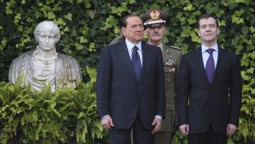 Президент России Медведев и Премьер Италии Берлускони провели переговоры в Риме