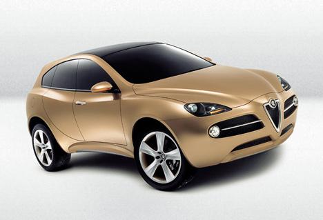 Слухи опоявлении кроссовера сшильдиками Alfa Romeo усилились, когда итальянцы показали в2003году концептуальный внедорожник Kamal.