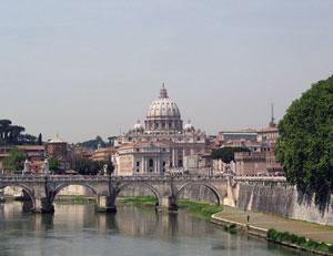 Рим. Вид на Собор Св. Петра
